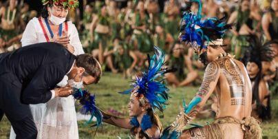 Полинезийцы станцевали перед Макроном и дали ему новое имя: видео