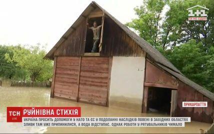 В затопленном селе на Прикарпатье уровень воды местами достигает десяти метров