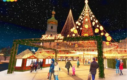 10 тысяч елочных украшений и гирлянды теплого цвета: в Киеве на Софийской площади готовятся к новогодним праздникам