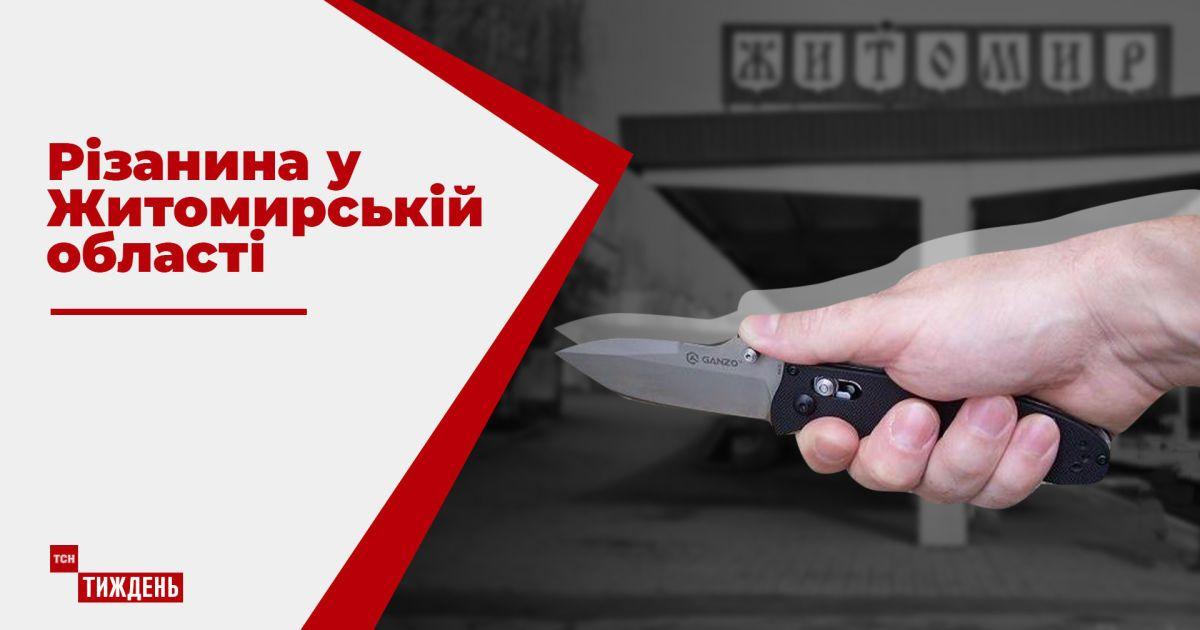 Полиция разыскивает мужчину, который порезал 9 человек возле кафе в Житомирской области