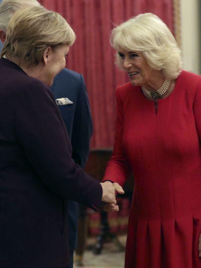 Ангела Меркель і герцогиня Корнуольська / © Associated Press