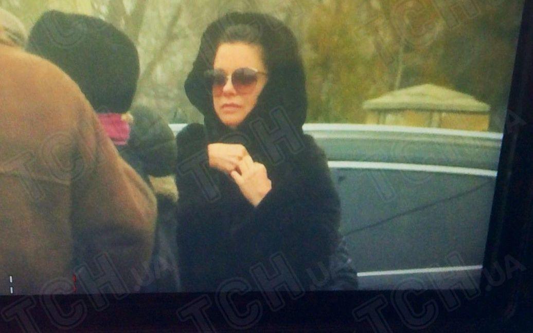 Корольова на похоронах бабусі / © ТСН