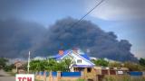 Жители военного городка Василькова всего в трех километрах от пожара