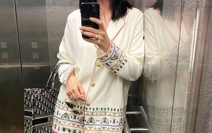 В молочном костюме и с именной сумкой: Маша Ефросинина похвасталась лифтолуком