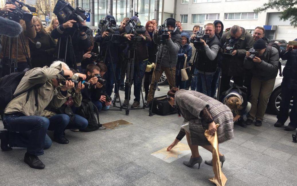 У Києві відкрили іменну зірку на честь Ніни Матвієнко / © SARAFAN
