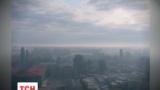 Левый берег Киева затянуло дымом