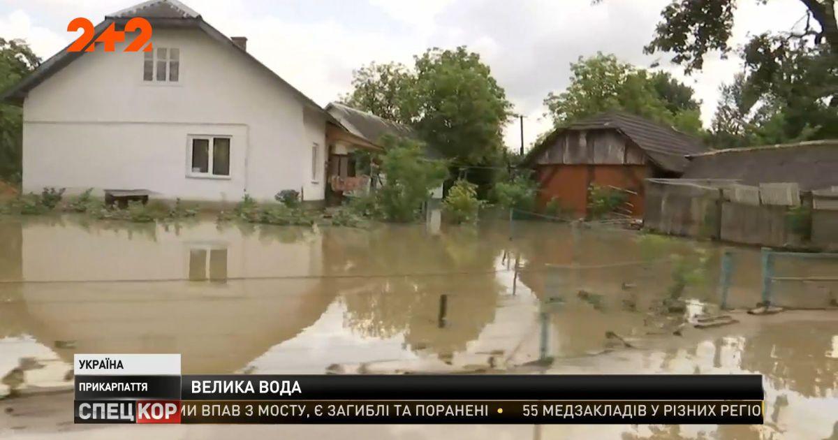 4500 домов в 165 селах подтоплены на Прикарпатье