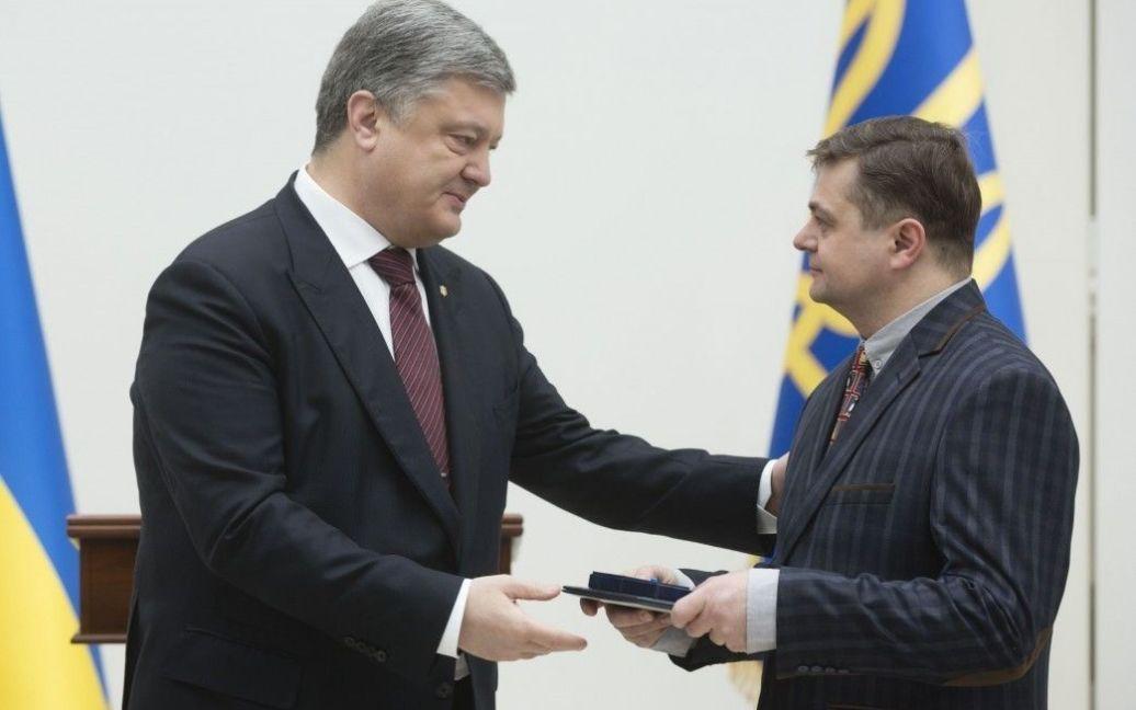 Порошенко вручив премію Степану Ковалю / © Сайт президента України