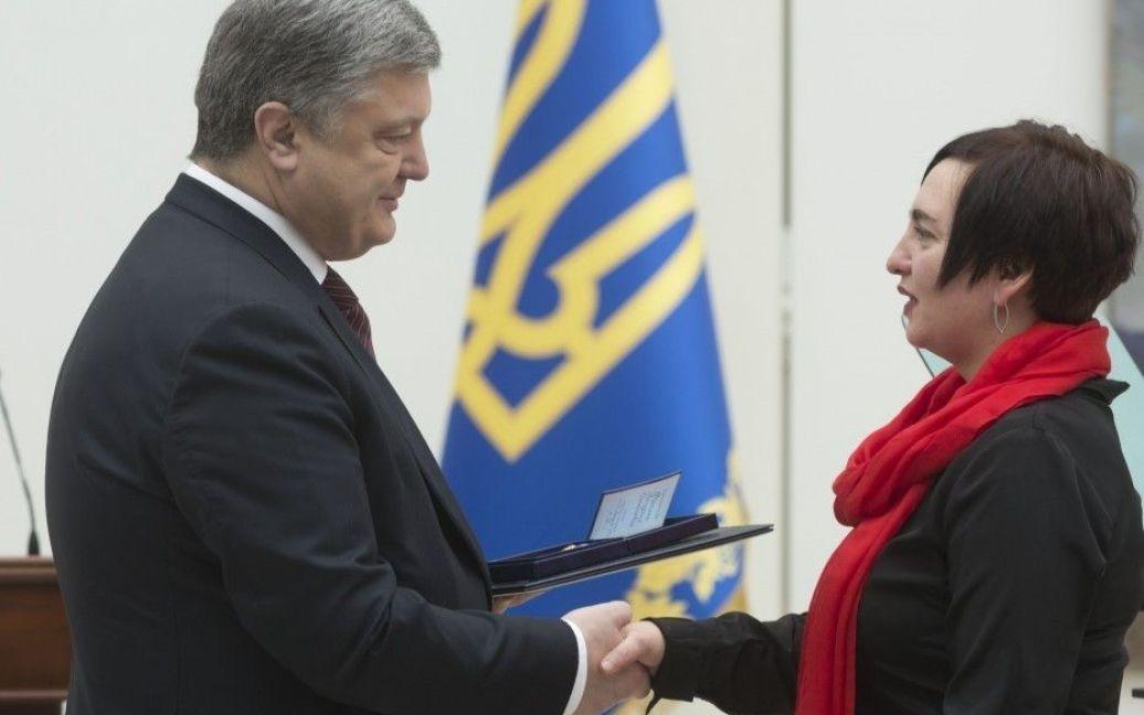 Вручення нагороди Богдані Фроляк / © Сайт президента України