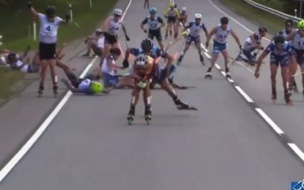 Шолом розколовся навпіл: український лижник дивом уникнув смерті після моторошного падіння (відео)