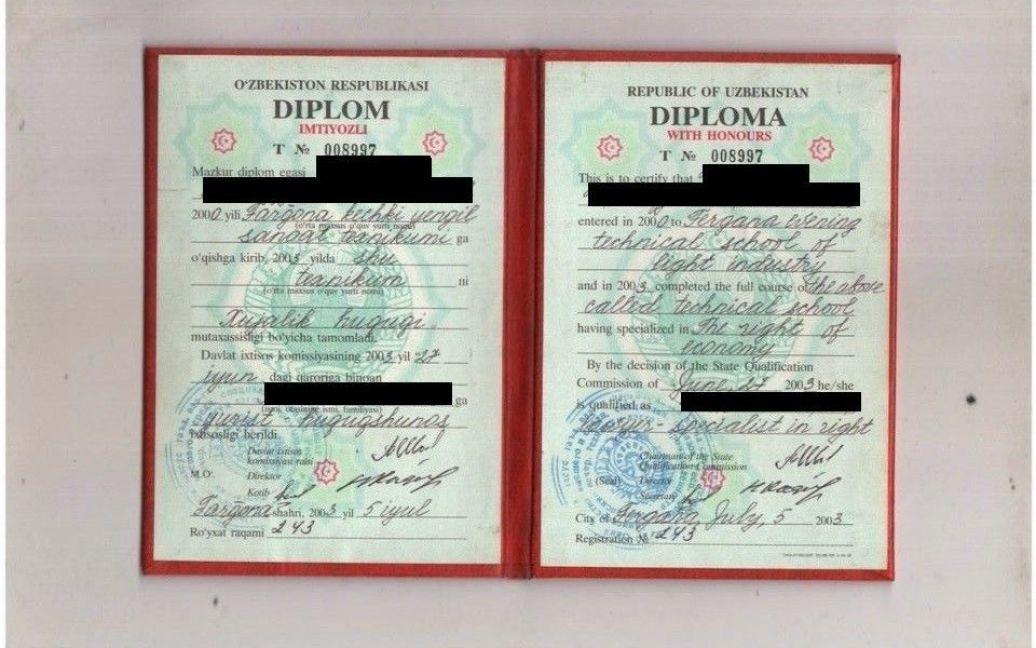 Диплом про закінчення технікуму / © ТСН.ua