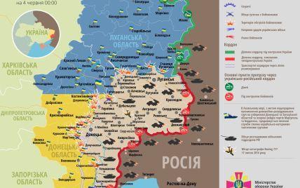 Украинских бойцов обстреливали вражеские гранатометы и танк. Дайджест АТО