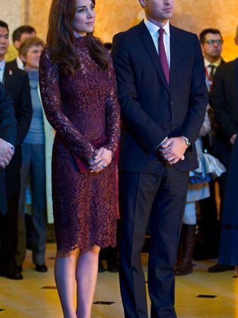 Герцогиня Кембриджская и принц Уильямна мероприятии с председателем КНР / © Getty Images