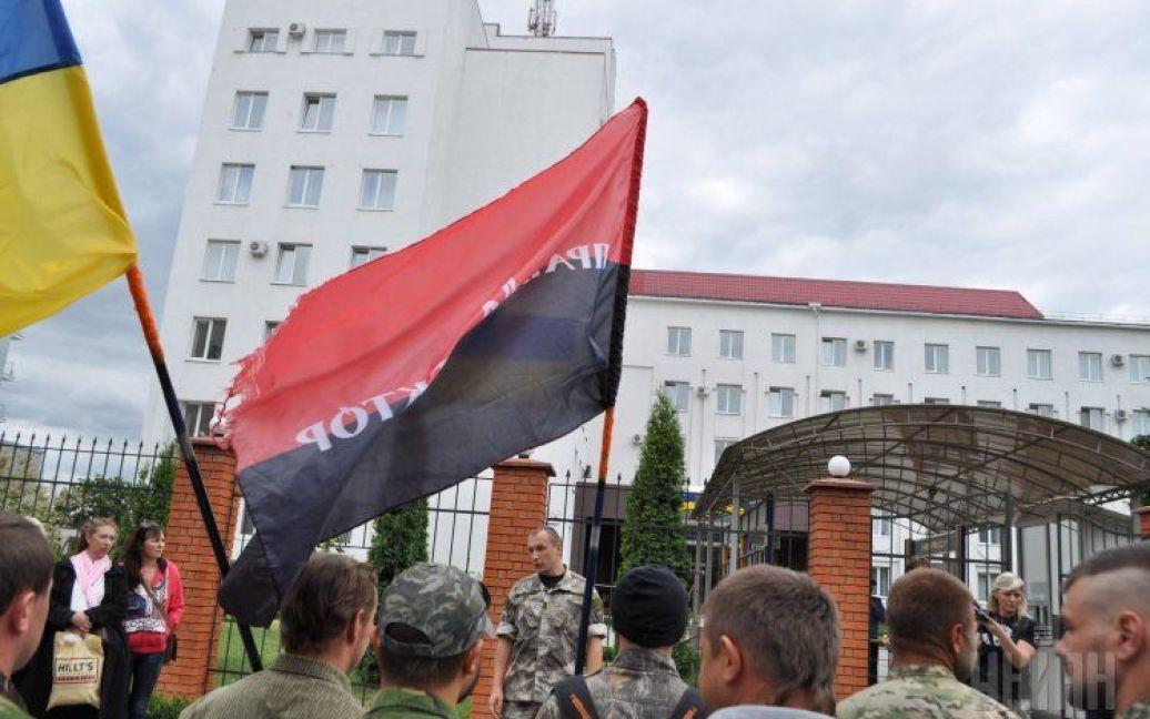 """Протест """"Правого сектора"""" в Хмельницком. / © УНИАН"""