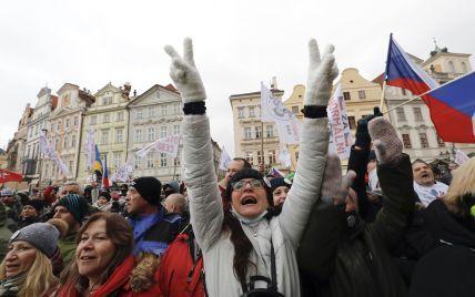 Протести проти локдауну у центрі Праги: на мітинг вийшли понад три тисячі людей