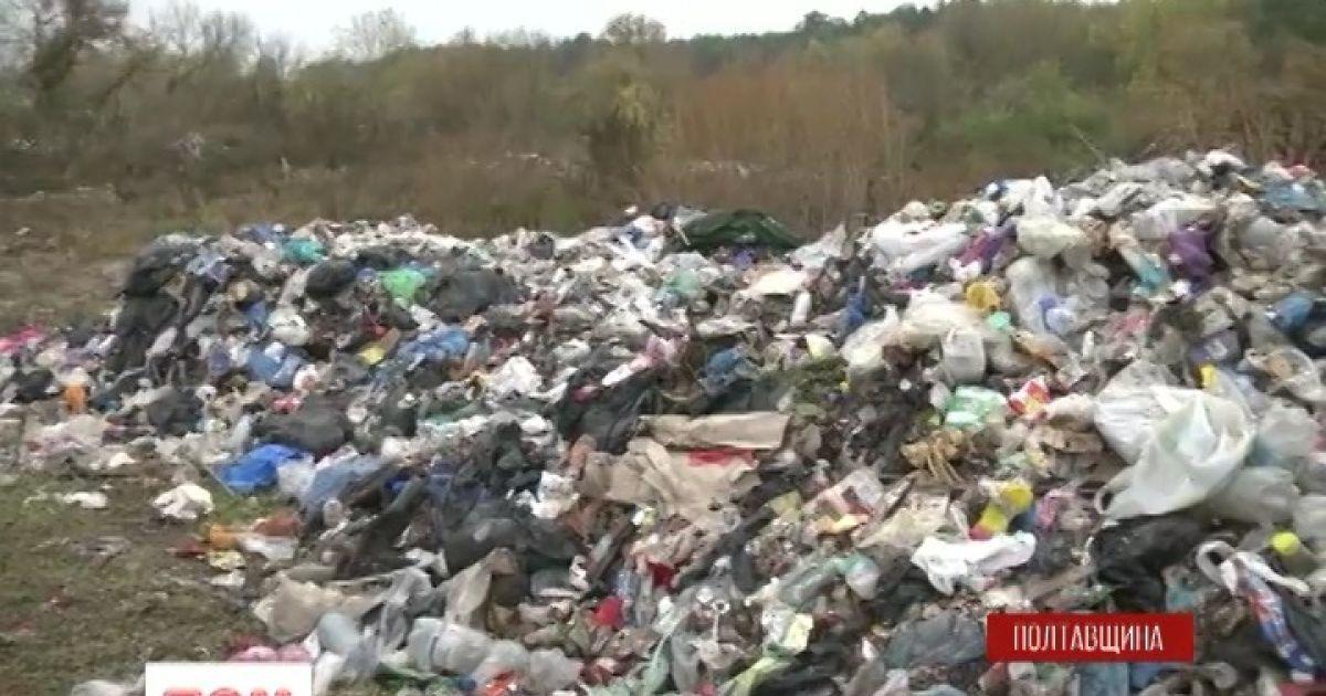 На Полтавщині виявили несанкціоновану купу непотребу зі Львова