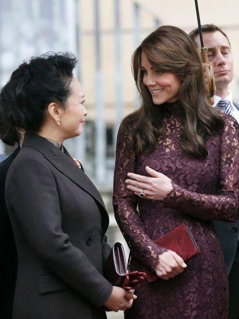Герцогиня Кембриджскаяна мероприятии с председателем КНР / © Getty Images