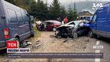 Новости Украины: на границе Львовской области и Закарпатья произошла массовая авария