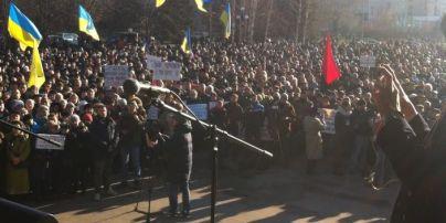 В Кривом Роге сотни людей вышли на вече, ожидают провокаций