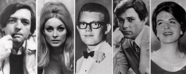 Пять жертв, убитых ночью с 8 на 9 августа 1969 года: Войтик Фриковски, Шэрон Тейт, Стивен Пэрент, Джей Себринг и Эбигейл Фолджер / © Associated Press