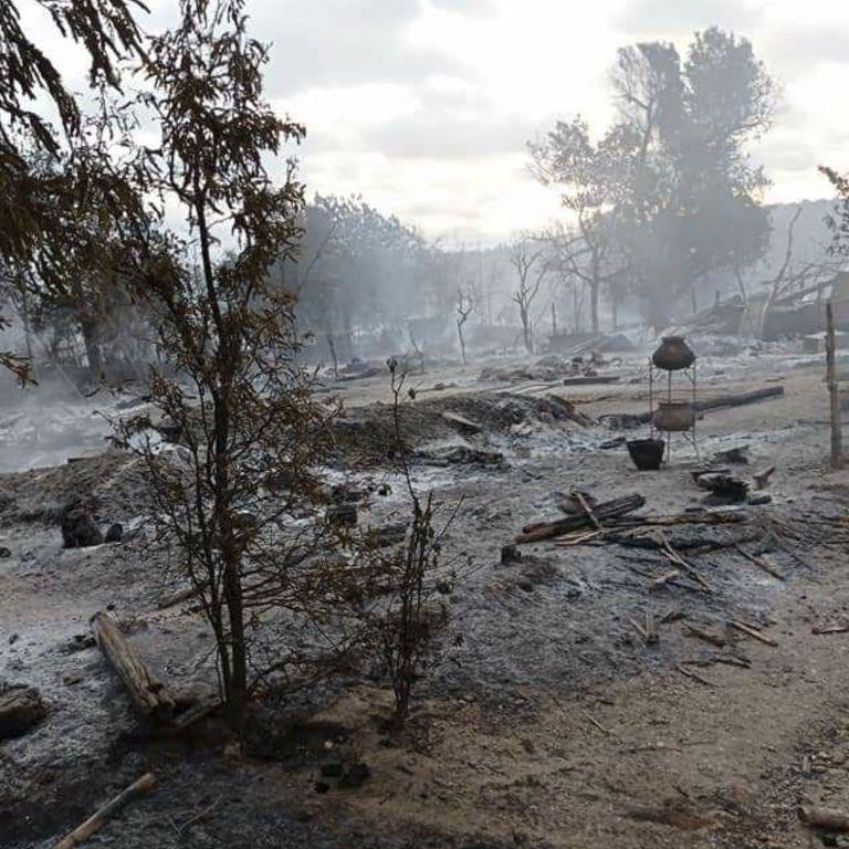 Животные горели живьем, а люди бежали в леса: хунта в Мьянме сожгла целое село
