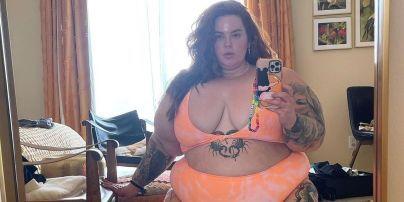 Без комплексів: 155-кілограмова Тесс Голлідей у мандариновому купальнику показала фігуру