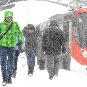 В Киеве из-за снегопада ввели оперативное положение по движению общественного транспорта