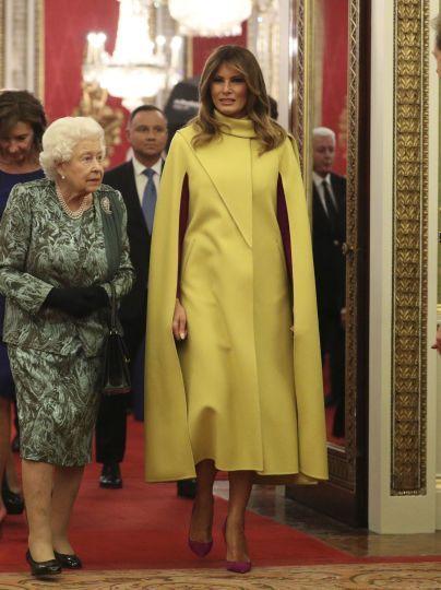 Королева Єлизавета II і Меланія Трамп / © Associated Press