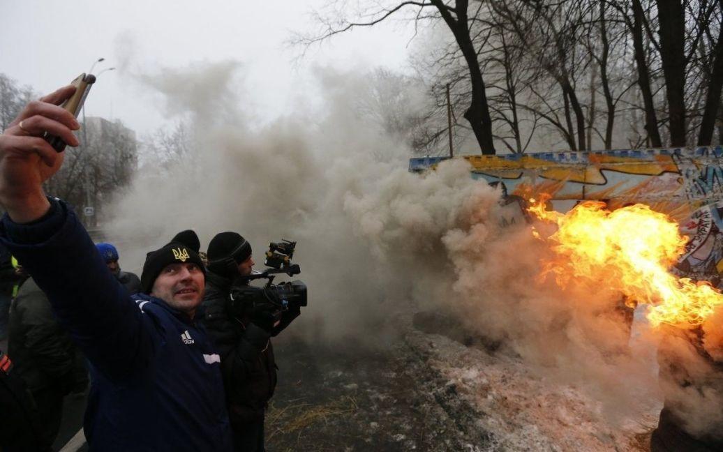 Фото з місця протесту / © УНІАН