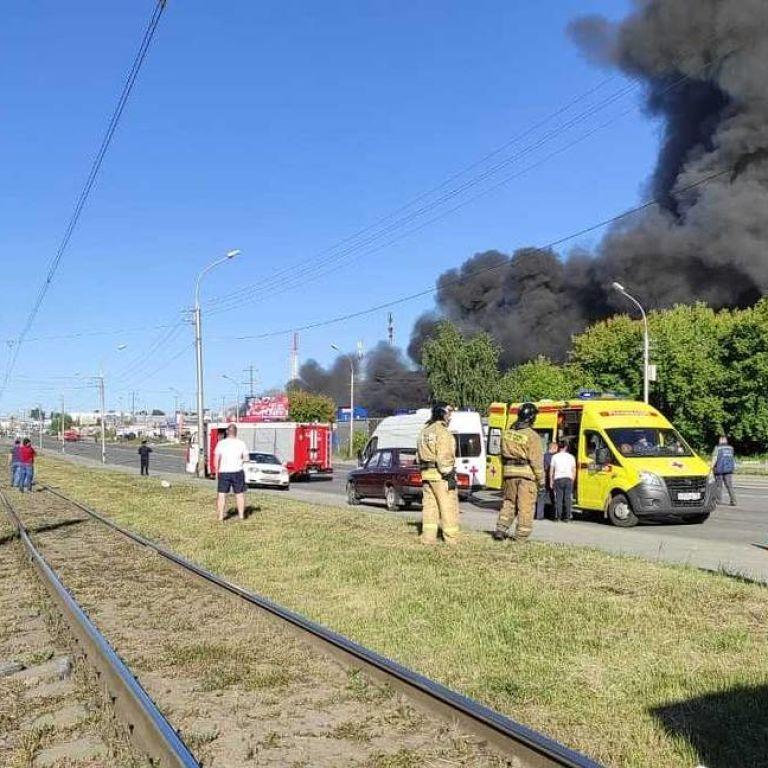 В России произошел взрыв на АЗС: в результате пожара пострадали 19 человек, видео
