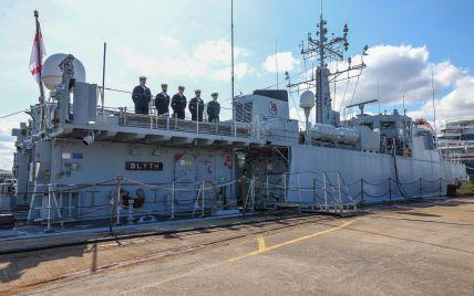"""Королевский флот Британии устроил """"проводы"""" двух боевых кораблей, которые передадут ВМС Украины: фото"""