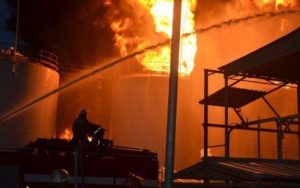 В МВД  объяснили, почему на нефтебазе под Васильковом полтора часа не сообщали о пожаре