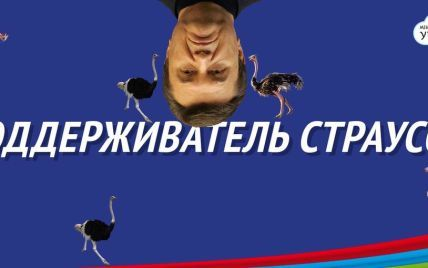 Страус робко прячет тело жирное в Ростове. Реакция соцсетей на интервью Януковича