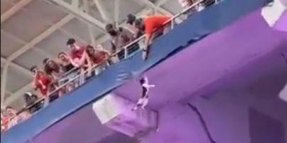 В США во время футбольного матча кот сорвался с трибуны и пережил чудесное спасение: вся арена была в экстазе (видео)