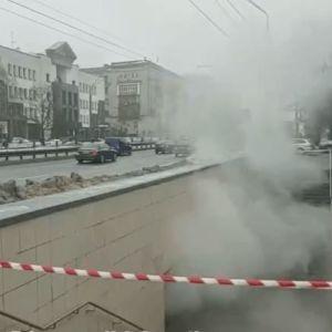 У Києві затопило окропом підземний перехід