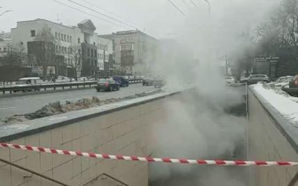 В Киеве затопило кипятком подземный переход