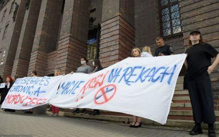"""""""Це межа"""": заробітчани у Польщі вийшли на протест через загибель українця, якого замордували копи (фото)"""