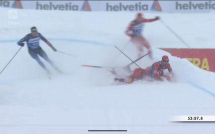 Лижний курйоз: російські спортсмени зіштовхнулися на фініші та залишилися без медалей (відео)
