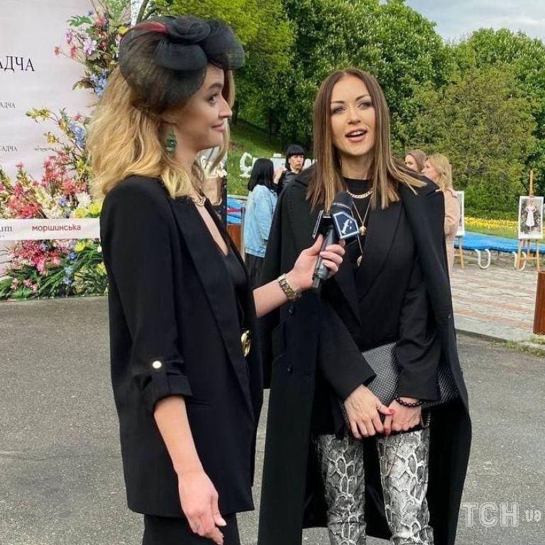 Рідкісний вихід: Наталія Валевська у пітонових штанях прийшла на фешнпоказ