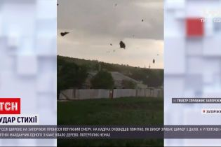 Погода в Украине: в селе Широкое Запорожской области пронесся мощный смерч