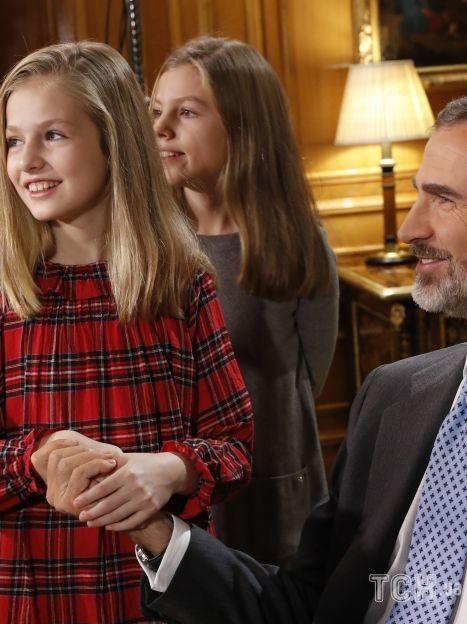 Король Филипп VI с дочками / © Getty Images