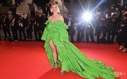 Сукня-капуста і леопардові босоніжки: акторка одягла найдивніше вбрання Канського кінофестивалю