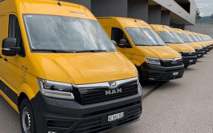 Почта Швейцарии закупила электромашины MAN