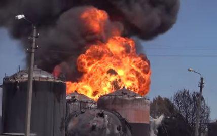 В Сети появилось шокирующее видео нового возгорания на нефтебазе под Васильковом