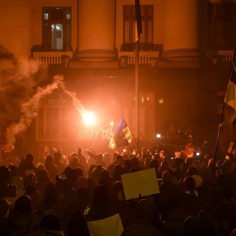 Организатору протеста под Офисом президента также вручили подозрение