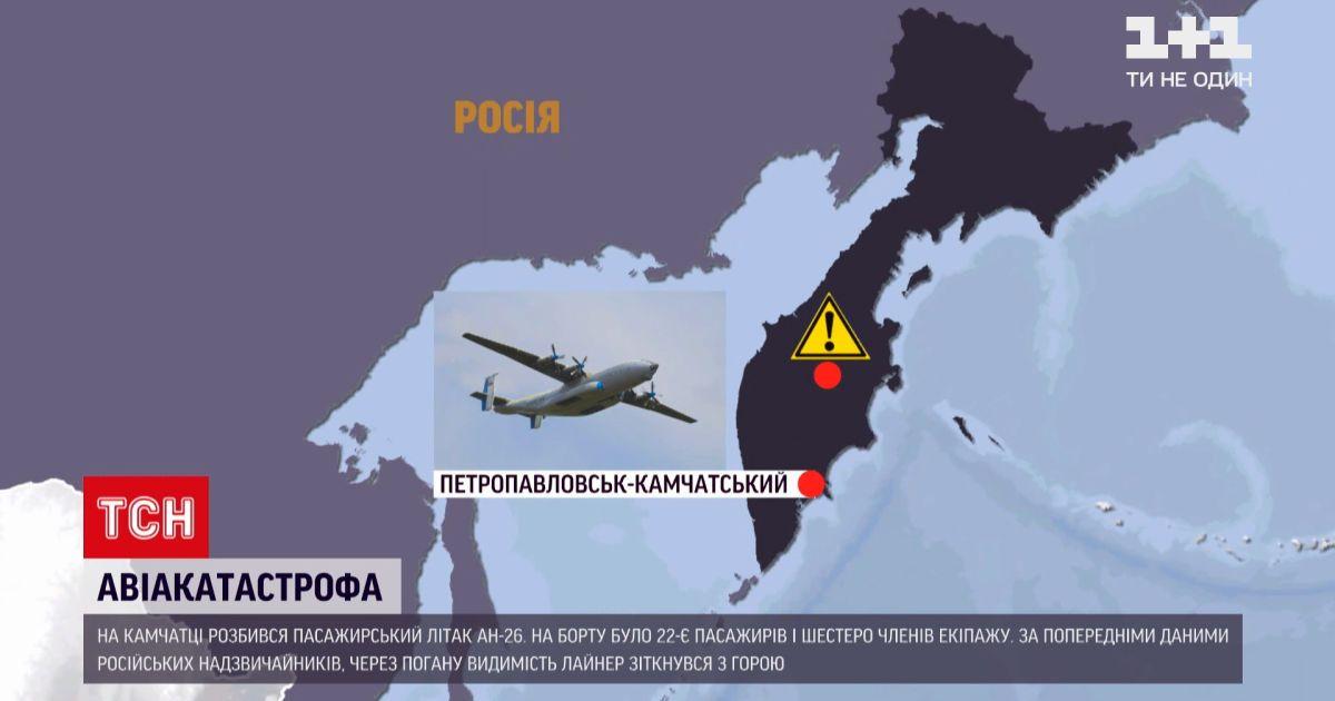 Новини світу: на Камчатці знайшли фюзеляж зниклого літака, на облавку було 28 людей