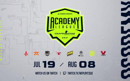 На WePlay Academy League для молодіжних складів із CS:GO розіграють $100 000