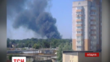 В Броварах под Киевом горел пенопласт