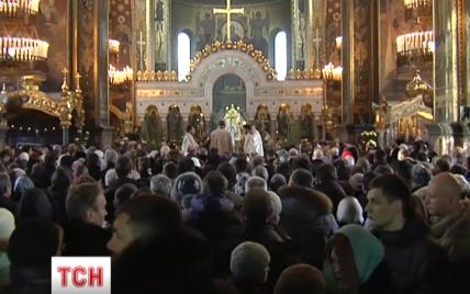 На Різдво у Києві тисячі вірян помолилися за щасливу Україну