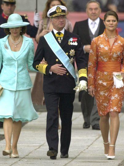 Королева Сильвия, король Карл Густав и кронпринцесса Виктория / © Associated Press